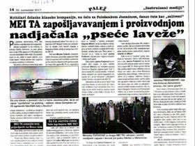 Jedan od tekstova Paleža u kome je prekršen Kodeks novinara Srbije