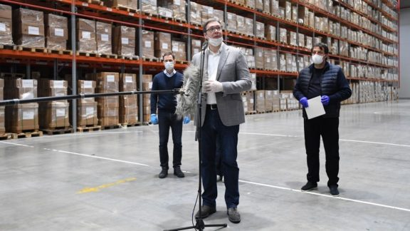Aleksandar Vučić u obilasku opreme